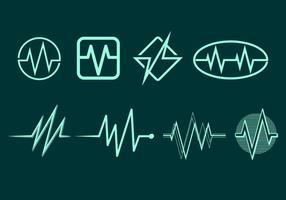 Flatline Icon Gratis Vector