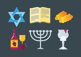 Libere los iconos de Shabbat Vcetor