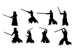 Free Kendo Silhouette Vector