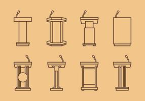 Lectern Outline Free Vector