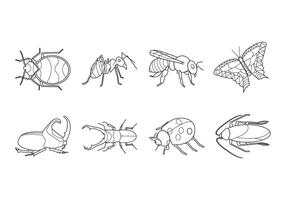 Insects and Bugs Icon Vector