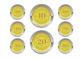 Anniversary Badges Vectors