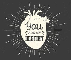 Heart Destiny Vector Typografie