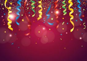Red Party Popper Background vector