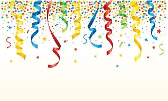 Party Popper Background vector