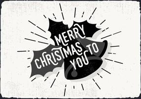 Tarjeta de felicitación libre de la Navidad
