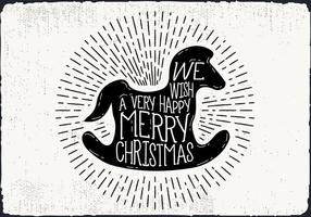 Gratis Christmas Greeting Card Vector