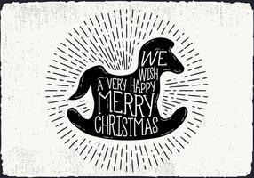Freie Weihnachtsgruß-Karte Vektor