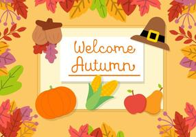 Free Autumn Vector Background
