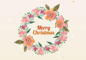 Gratis Christmas Watercolor Wreath Vector