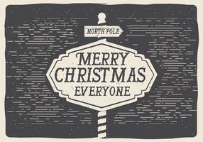 Tableau de Noël vectoriel gratuit