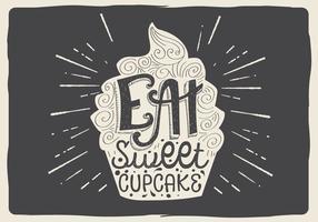 Cupcake gustoso di vettore gratis