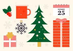 Elementos libres del vector de la Navidad