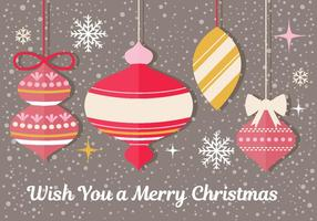 Christmas Ornament Vector Greeting Card