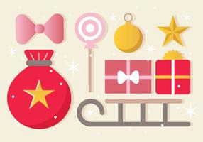 Vector libre del ornamento de la Navidad Tarjeta