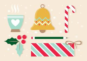 Éléments gratuits de conception de Noël vectoriel