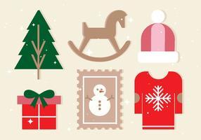 Gratis Vector Kerst Ontwerp Elementen