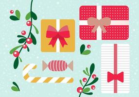 Gratis Vector Christmas Gift Boxes