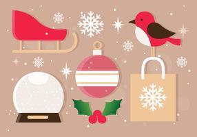 Ícones de Natal de vetor grátis