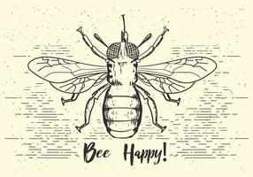 Free Vector Bee Illustration