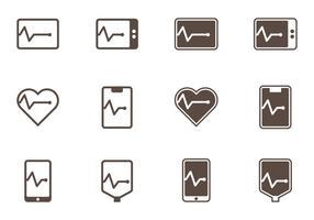 Iconos de línea plana