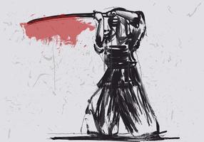 Kendo Farbe durch Tinte