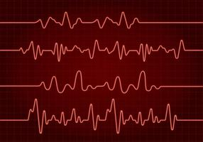Flatline Red Free Vector