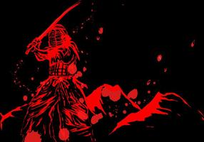 Kendo Master In Red With Blood