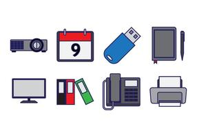 Gratis Office Element Ikon Vector