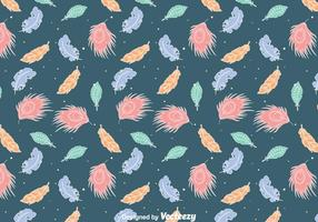 Colorful Feather Gipsy Style Seamless Pattern