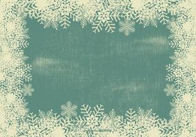 Grunge Snowflake Frame Background vector