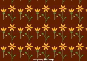 Plantilla de flores planas Seamless Pattern