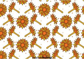 Hand Drawn Calendula Seamless Pattern