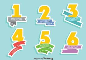 Anniversary Sign Vector Set