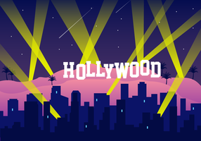 Vector libre de luces de Hollywood
