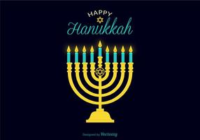 Illustration de la bougie du vecteur hanukkah