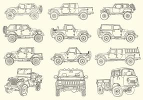 Collection à main tiré par Jeep