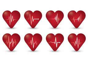 Flatline-symbool van hartslag