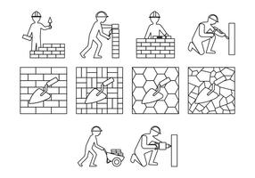 Gratis Masonry Work Icon Vector