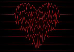 Vetor livre de frequência cardíaca