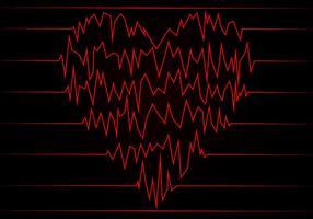 Hjärtfrekvensfri vektor