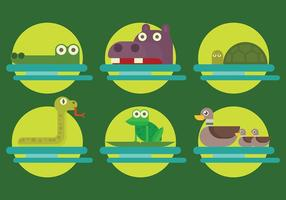 Free Swamp Animals Icons Vektor