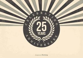 Retro 25th Anniversary Illustration