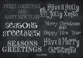 Letras lindas dibujadas mano de la Navidad del estilo