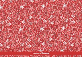 Red Christmas Vector Pattern