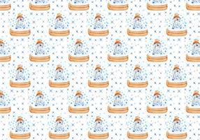 Pattern With Cute Polar Bear Free Vector