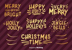 Happy Holidays Han Getekende Vector Lettering