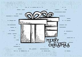 Gratis Vintage Hand Drawn Christmas Card Bakgrund