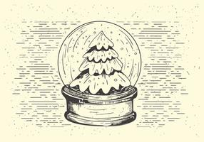 Gratis Vector Christmas Snow Ball Illustration
