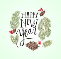 Happy New Year Lettering vector